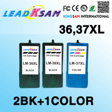 3x compatible For Lexmark36 37 Ink Cartridge For 36 XL 37 XL Series x3650 x4650 x5650 x6650 x6675 Z2420 Printer LM36 LM37(China)