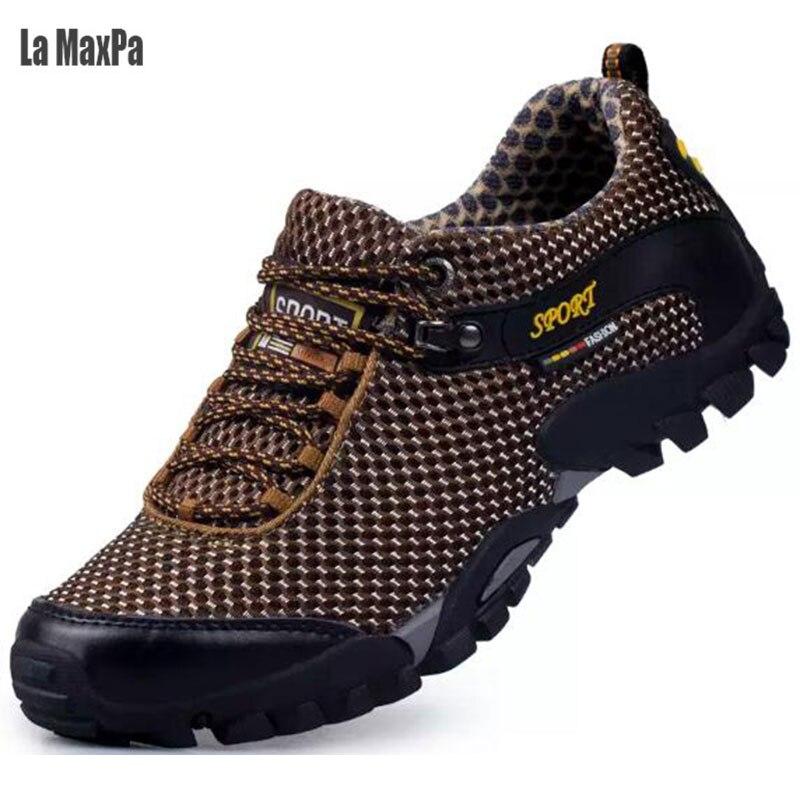 Chaussures de course Hommes Sneakers Printemps 2018 Respirant Mesh Lace Up  Chaussures Hommes Sport Chaussures de sport Pour Hommes Chaussures de  Marche En ... 4a032fe73f2e
