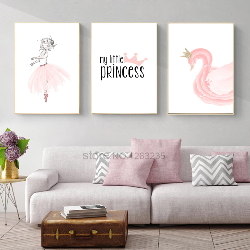 Nordic Babykamer Poster Cute Baby Girl Room Decor Cuadros Decoracion Salon Girls Canvas Art Painting Posters And Prints Unframed
