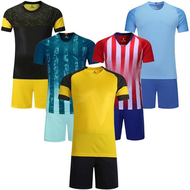 e0f5a8fd6 Kids blank v neck short sleeve soccer jerseys youth football jerseys boys  plain 5 colors soccer