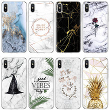 Marble for Samsung Galaxy A8 J3 J5 J7 S6 S7 S8 S9 Plus A40 A50 A70 for Coque iPhone 11 Pro Max XS XR X 7 8 6 6S Plus Case Cover(China)