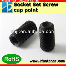 hot sale,M3*3,4,5 DIN916 Grade 12.9 high tensile alloy steel Headless  hex socket cup point set grub screw