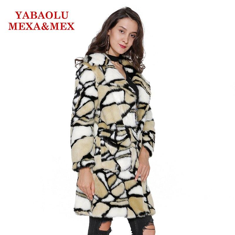 Multi Faux Vison De Femmes Manteau Vestes Vêtements Pardessus Causalité Yaobaolumexamex Mode Pour Long Hiver Fourrure Femelle ZqwRTaaF