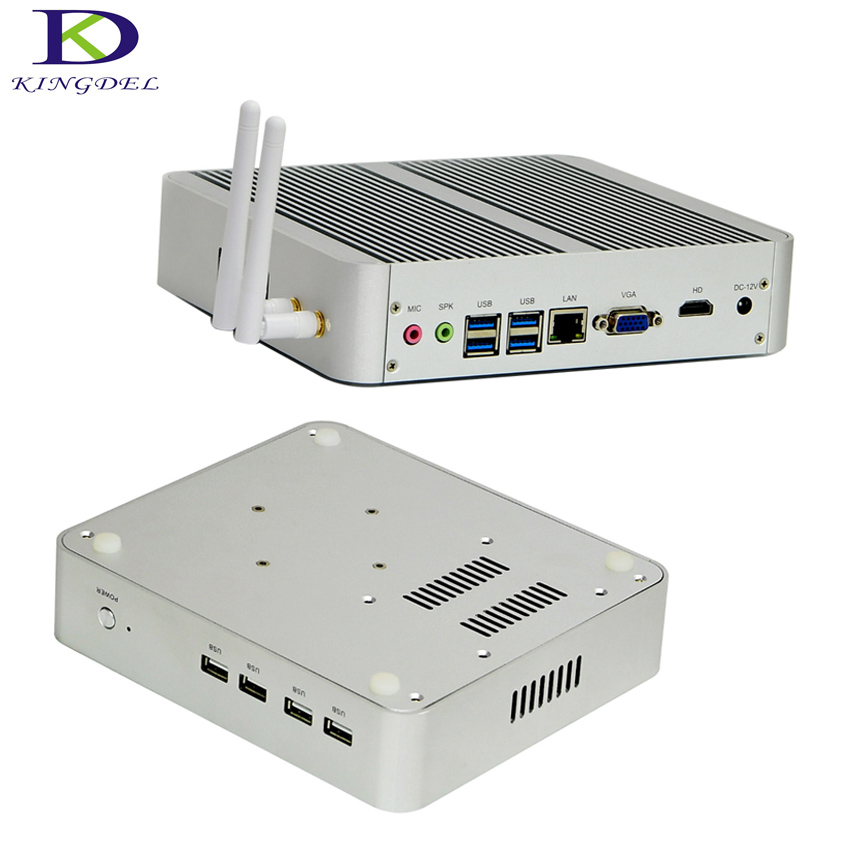 2017 New arrival Business Barebone Computer 16GB RAM 256GB SSD 1TB HDD Fanless Mini PC with