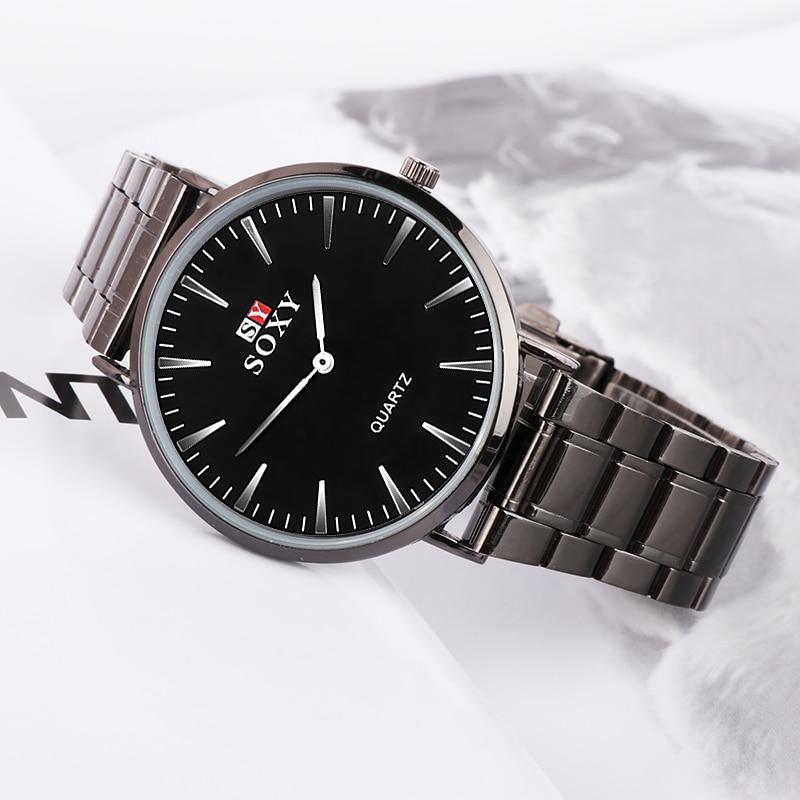 Mens Watches Top Brand Luxury Men's Watch Men Watch Fashion Black Stainless Steel Watch Men Clock kol saati relogio masculino