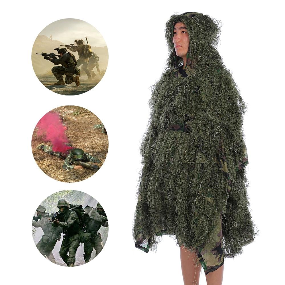 Costume de Camouflage universel vêtements de forêt Ghillie costume pour l'armée de chasse militaire tactique Sniper Set Kits