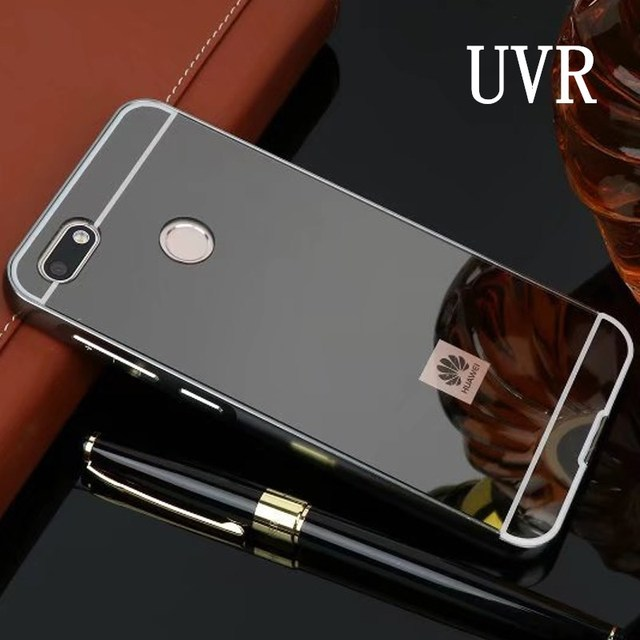 new product 37837 1548b US $3.74 25% OFF UVR For Huawei Y6 Pro 2017 Case Mirror Aluminum Metal  Bumper & Hard PC Back Cover For Huawei P9 Lite Mini Cover Phone Cases-in  Fitted ...