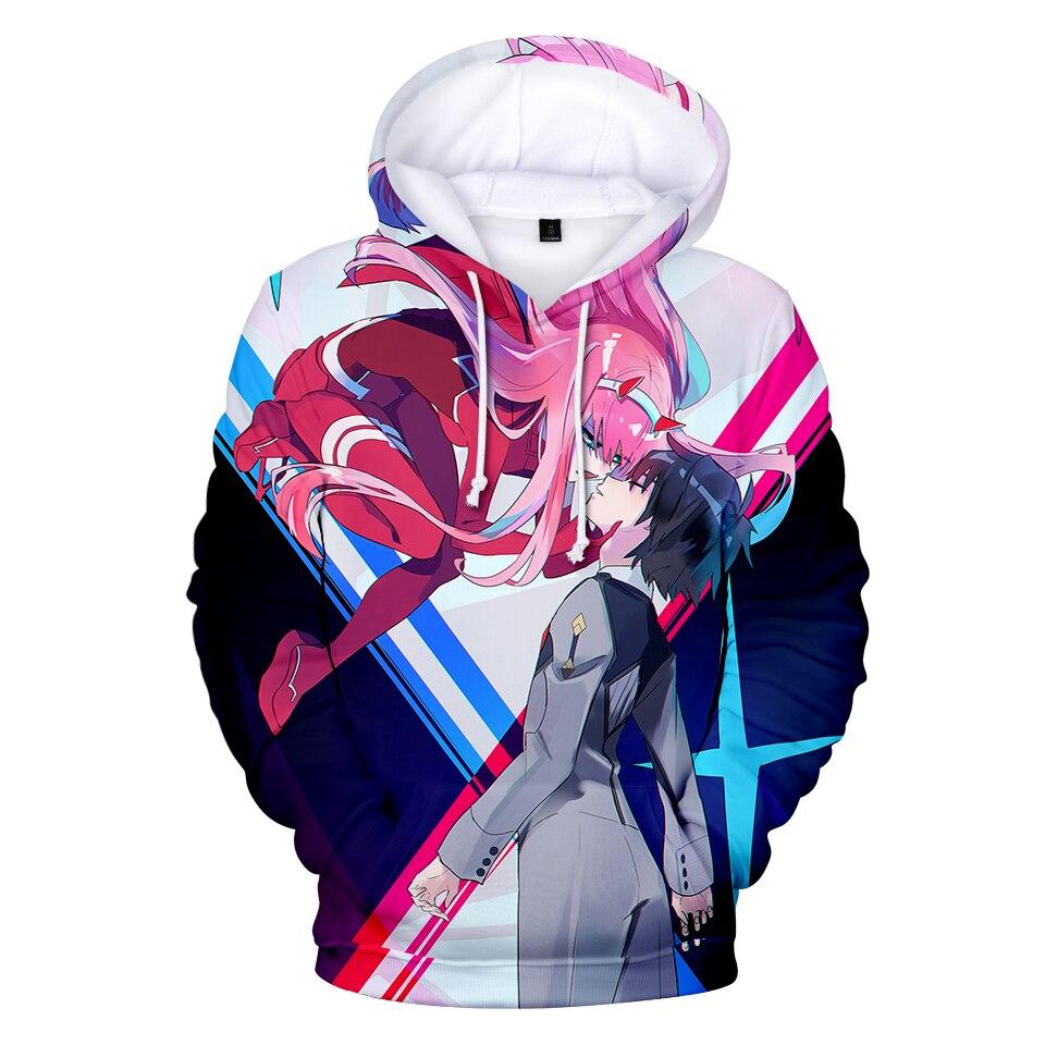Harajuku Hoodies 3D Print Anime Darling In The Franxx Hot Fashion 2019 Men/Women Hoodies Pullovers Dear Frank Sweatshirts Hooded