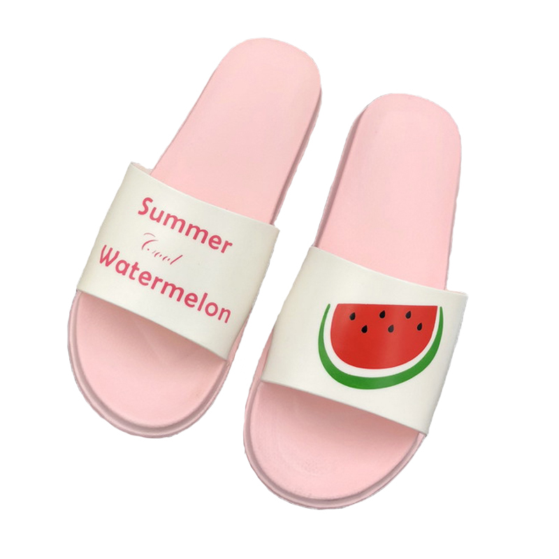 Yu Kube Summer Slippers Shoes Woman Cute Fruit Slippers 2019 Soft Flip Flops Easy And Convenient Women Outdoor Flat Beach Slides