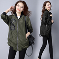 Plus Size New Autumn Women Trench Coat Embroidery Loose 1995 Coats Army Green Black 8884