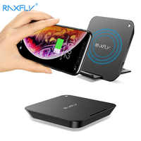 RAXFLY 10W Qi Wireless Charger For iPhone 8 Plus X XS Max XR Fast Charger For Samsung S9 S10 Plus Xiaomi MiX 2S Huawei Mate 20