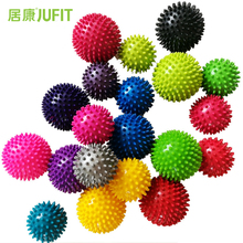 JUFIT 7.5CM/9.5CM PVC Massage Acupoint Grip Ball Point Nail Fascia Yoga BalL Body Building Hedgehog