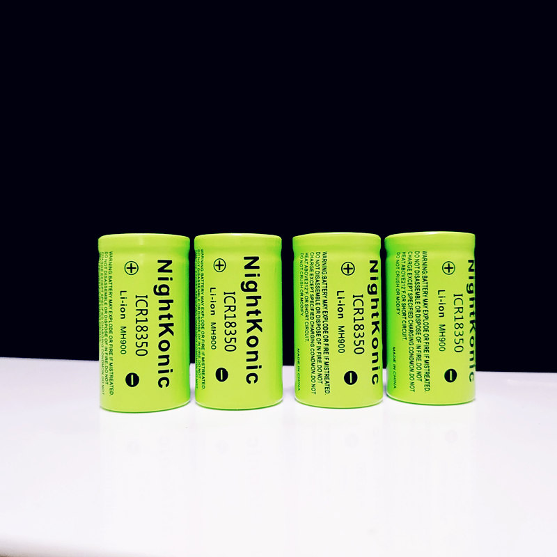 Original Nightkonic 3 7V Li ion ICR 18350 Rechargeable Battery 900mAh Lithium Battery for LED Flash Light Bike Headla in Replacement Batteries from Consumer Electronics