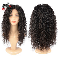 Sunnymay Brazilain Curly Hair Glueless Full Lace Wig Middle Part Pre Plucked Natural Hairline With Baby Hair