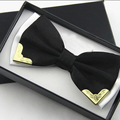 Dos homens de Poliéster Gravata borboleta para o Casamento Bowtie Clássico Ouro Sólido Misto Borboleta cor Gravata 2017 Laços para Homens Smoking 4 Cores