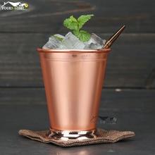 400ml Mint Julep Mug Stainless Steel Cocktail Mug Mixed Drinks Mug Martini Mojito Drink Bar Party Beer Mug