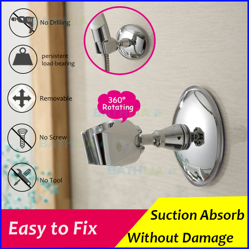 Adjustable Strong Suction Shower Head Holder ABS Plastic Shower Bracket Holder Handheld Shower Head Holder Wall