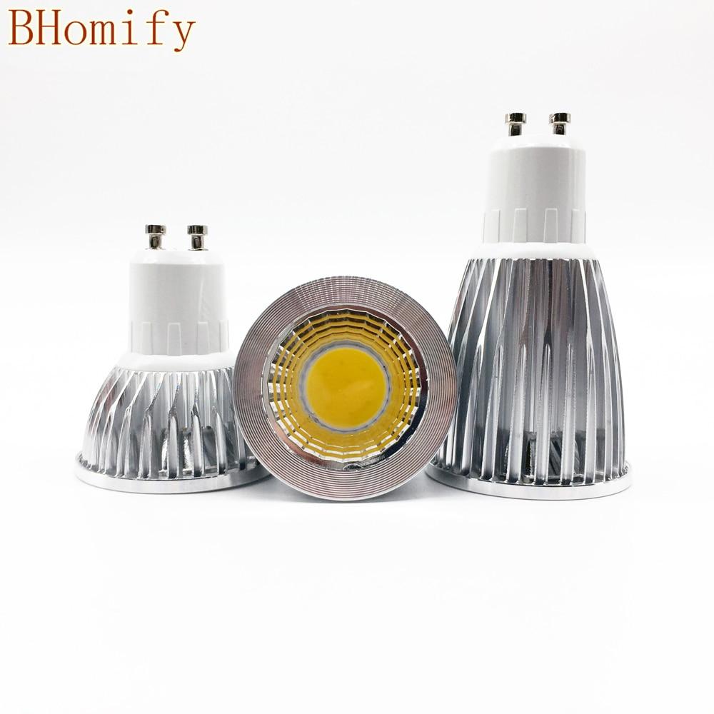 Super Bright GU10 E27 GU5.3 LED Bulbs Light Dimmable Led Warm/White 85-265V 6W 9W 12W GU10 COB LED lamp light GU10 led Spotlight