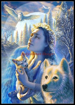Needlework for embroidery DIY DMC High Quality - Counted Cross Stitch Kits 14 ct Oil painting - Waterfall Princess