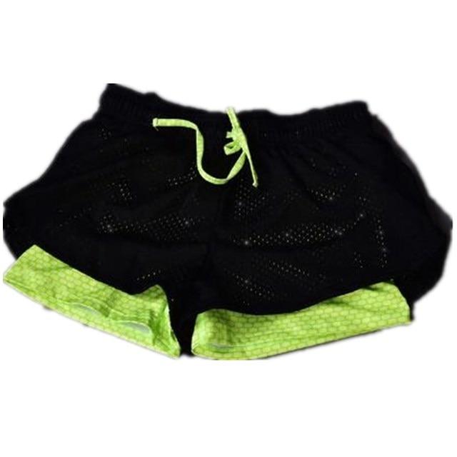 2017 Women Shorts Summer Fashion Double Lining Women's Casual Printed Cool women movement Short fitness Treadmill Shorts 0088