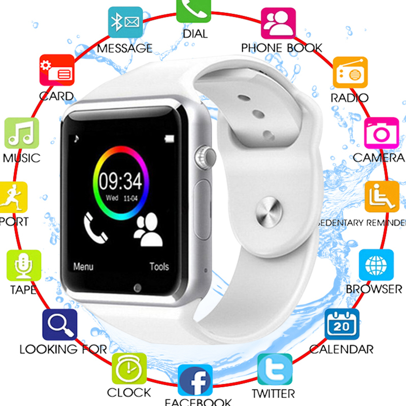 A1 WristWatch Bluetooth Smart Watch Fitness Pedometer Wear SIM Camera Smartwatch For Android Phone Facebook Whatsapp Kids Child