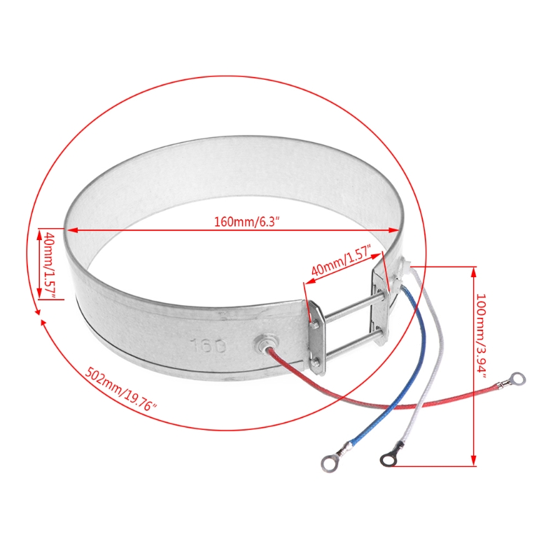 Detail Feedback Questions About 160mm Thin Band Heater Element 220v