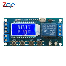 Micro USB Digital LCD Display Time Delay Relay Module DC 6-30V Control