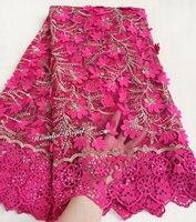 Розовое золото высокого качества Тюль Кружева Африки французские ткани с вышивкой шнур кружева границ плеточник бриллиантами 7426 5 ярдов/PC г