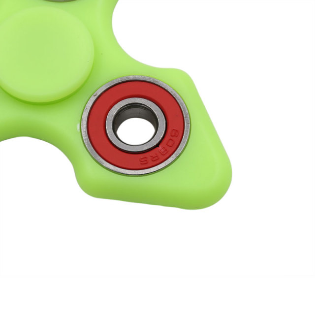 New Light Fidget ABS Plastic Tri Spinner Glow in Dark