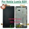 1/pcs moldura preta para nokia lumia 820 screen display lcd de toque digitador com substituição de montagem bastidor frete grátis