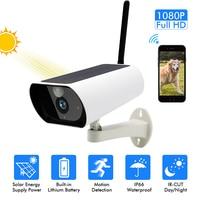 1080P HD Wifi Outdoor Waterproof Solar Energy Low Power IP Camera Wireless Surveillance IR CCTV Camera home security probe