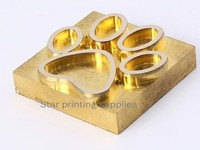 5x7cm Hot foil stamp copper mold brass mould customized making X 3 units