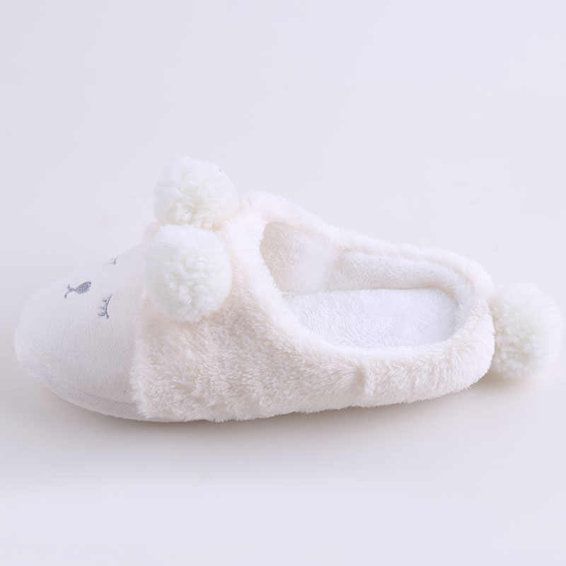 5fb54b1a7 ... Women Winter Home Slippers Cartoon Sheep Shoes Non-slip Soft Winter  Warm House Slippers Indoor ...