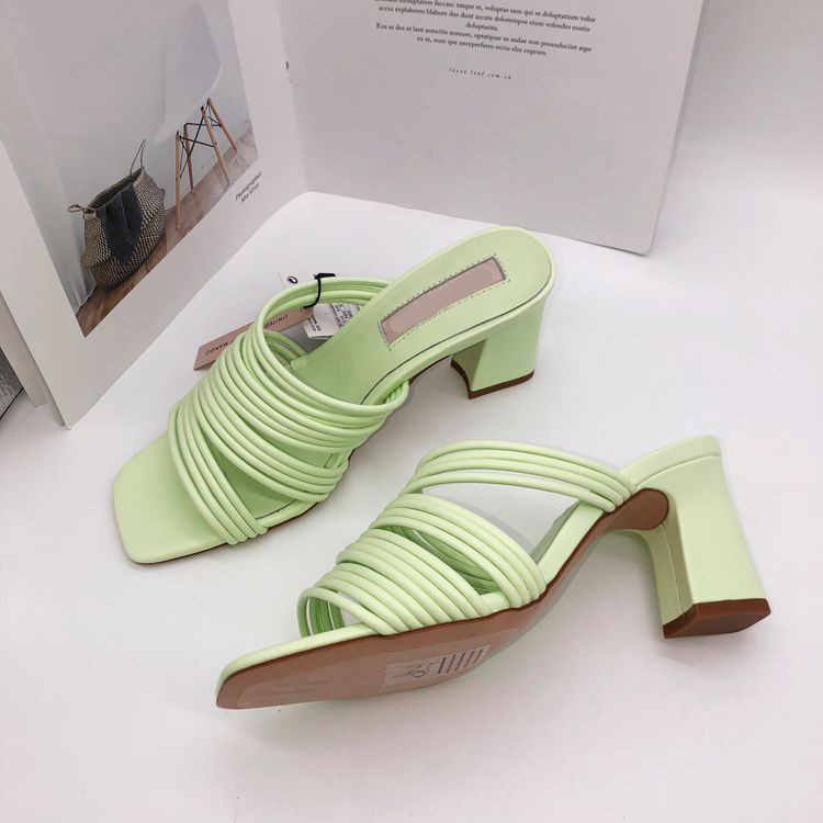 Bow Knot Plus Size Mules Heels Leather Flat Summer Ladies New 2019 Slippers Female Modis Low Outside Butterfly Large Slipon