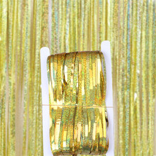 1x2M Metallic Foil Curtain Fringe Tinsel Garlands Wedding Backdrop Birthday Party Decorations Bridal Shower