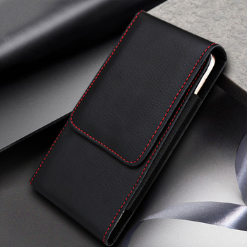 Casual Leather Phone Case With Holster Bag Belt For All Mobile Phones