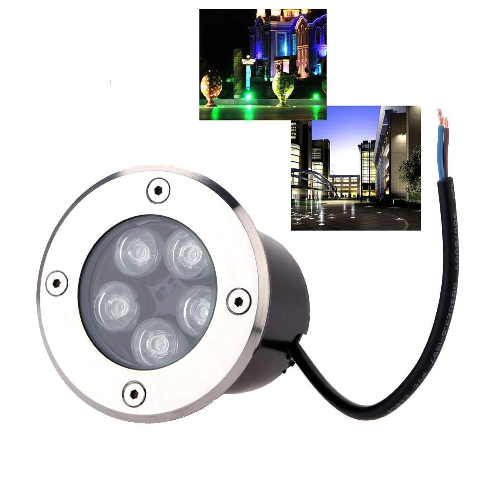 2018 wasserdichte led licht garten unterirdischen 1 watt-5 watt IP67 Outdoor Begraben Garten Pfad Spot Einbau Inground Beleuchtung