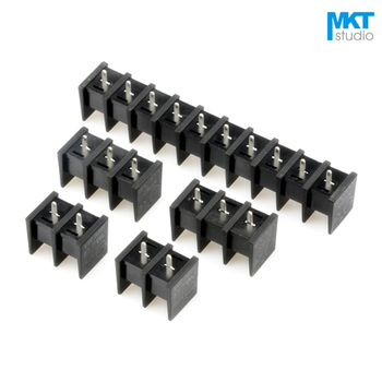 100Pcs 10P 10mm Pitch B-Type Straight Pins PCB Electrical Screw Terminal Block