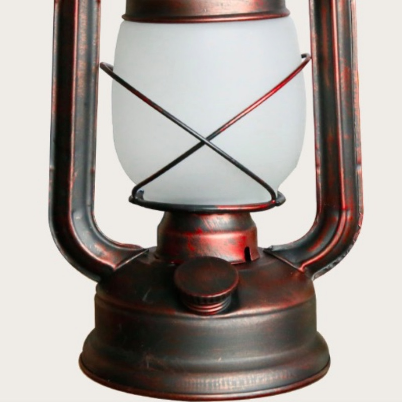 Vintage Exotic Cottage Lantern Lamp Iron Glass Led E27 Table Lamp for Living room Bar Restaurant Deco H 46cm 1780