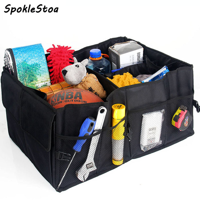 Folding trunk bags  box tool  grocery, car nets accessories, car bags stroage, car racks bag