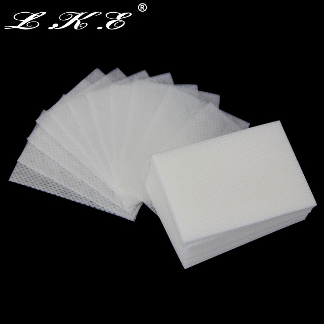 LKE Lint-Free Wipes Napkins Manicure Remove Nails Varnish Cotton Pads Nail Art Tools Lint free Nail Gel Polish Removal Wraps