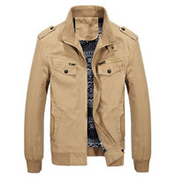 Men's military jacket spring cotton washed casual men's jacket autumn men's coat