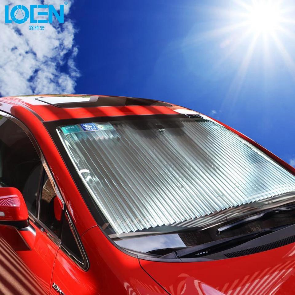 Windshield Sun Shade >> 160*60cm Universal Car Window Sunshade Retractable Foldable Windshield Sunshade Cover Shield ...