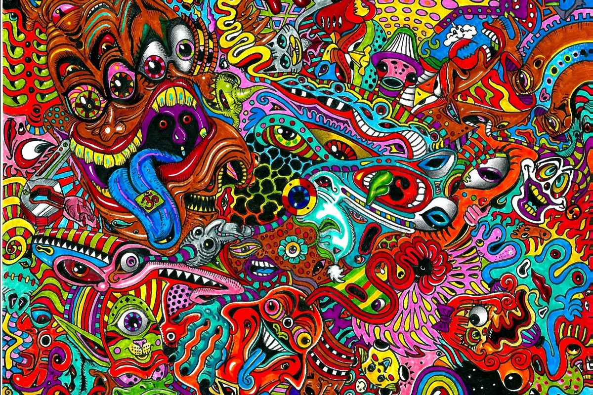 Abstract Paintings Art Psychedelic Custom Poster Art Fabric 5430