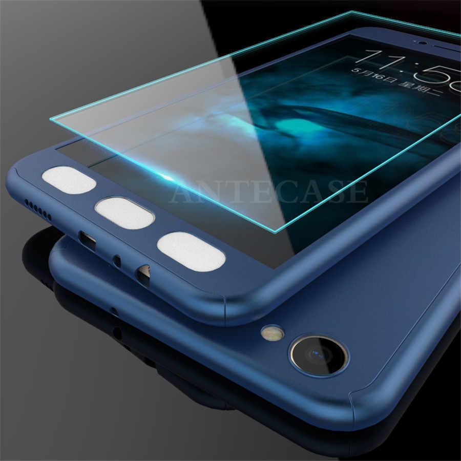 ファッション 360 度のカバーケースシャオ mi 8 SE 6 ケース mi A1 A2 5X 6X F1 5 s プラス Pocophone F1 カバー強化ガラス