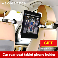 Authentic Aluminum Car Tablet Holder Stand For Ipad Holder Tablet Car Back Seat Headrest Mount 7 13 inch Adjustable Tab support