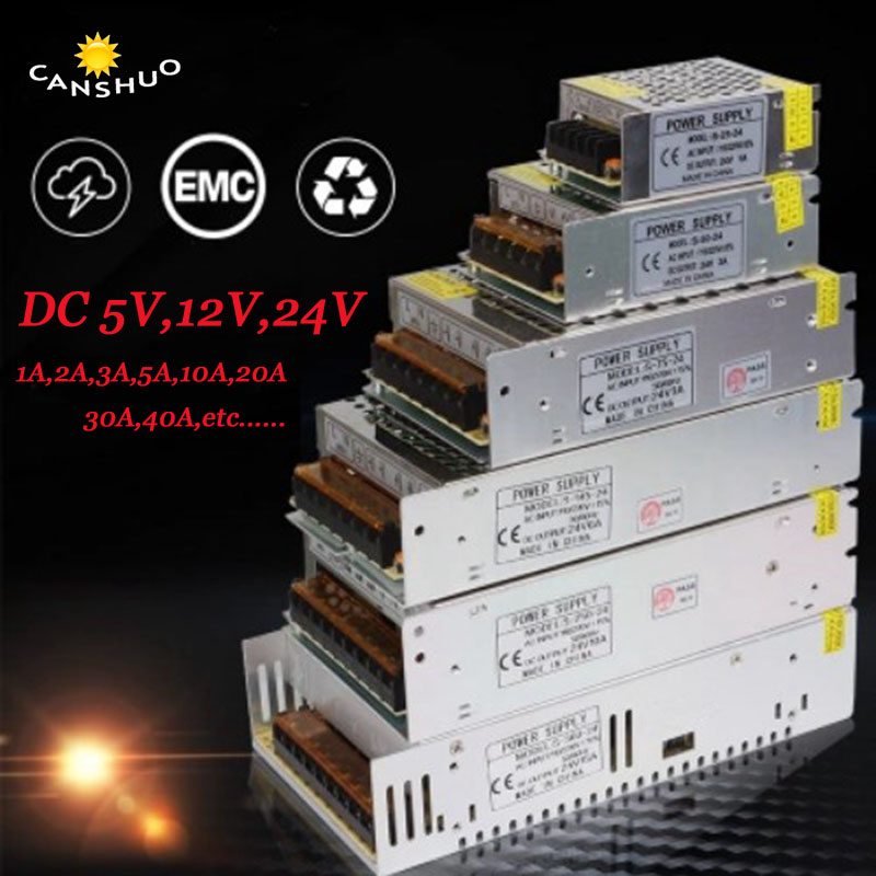 AC85-265V to DC5V 12V 24V 1A 2A 3A 5A 10A 20A 30A CCTV / LED Strip Switch Power Supply Driver Adapter Transformer for LED Strip lighting transformer 1a 2a 3a 5a 8a 10a 12a 15a 20a 30a 40a 110 265v to 12v led driver switch power supply adapter for led strip