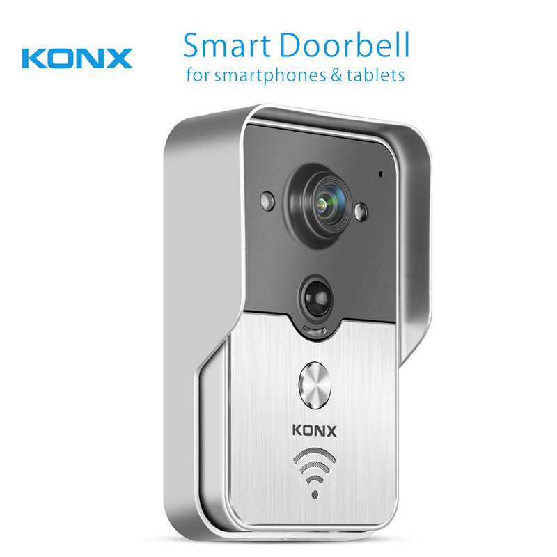 Konx KW01 Gen2 WiFi Wireless Video Door Phone intercom peephole Camera Phone Remote Unlock IR Night Vision Alarm Smart Home mobile wifi wireless video door phone intercom doorbell peephole camera night vision alarm smart home wireless visual intercom