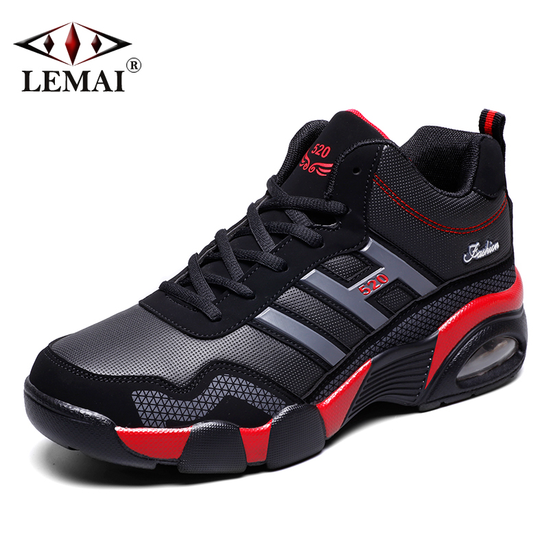 LEMAI 2017 New Men Winter Boots Warm Wool Sneakers Boys Outdoor Sport Autumn Running Shoes Athletic Max Air Walking Jogging 520M peak sport men outdoor bas basketball shoes medium cut breathable comfortable revolve tech sneakers athletic training boots