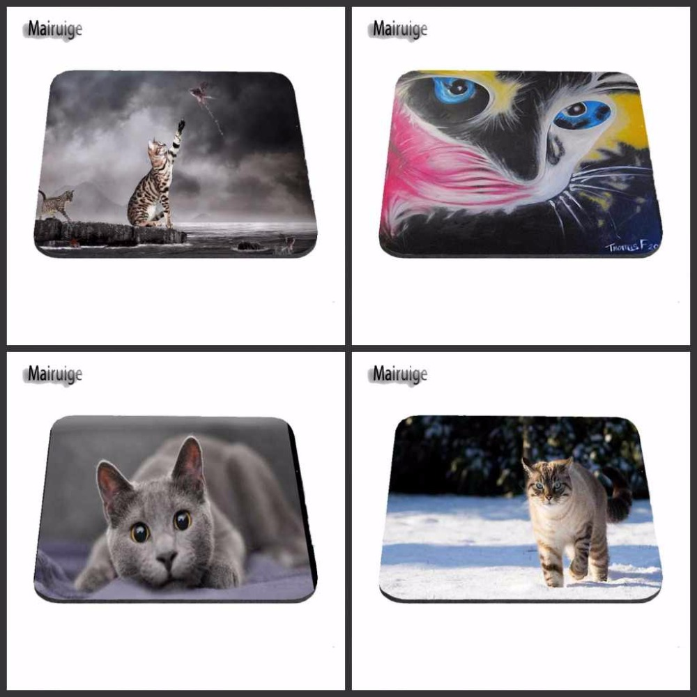 Top Luxury Printing Cute Cat Custom Design Durable Game Gaming PC Anti-slip Mouse Mat Overlock Mouse Pad and Round Mouse Pad